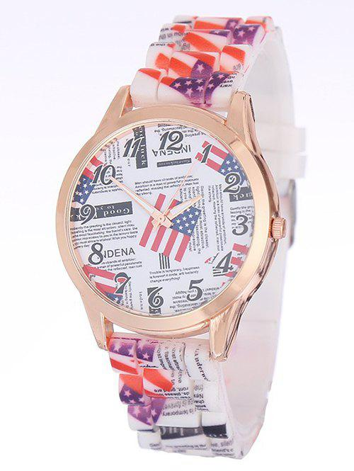Chic American Flag Printed Silicone Watch