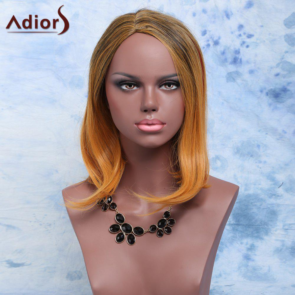 Discount Adiors Short Straight Side Parting Mixed Color Synthetic Hair Wig