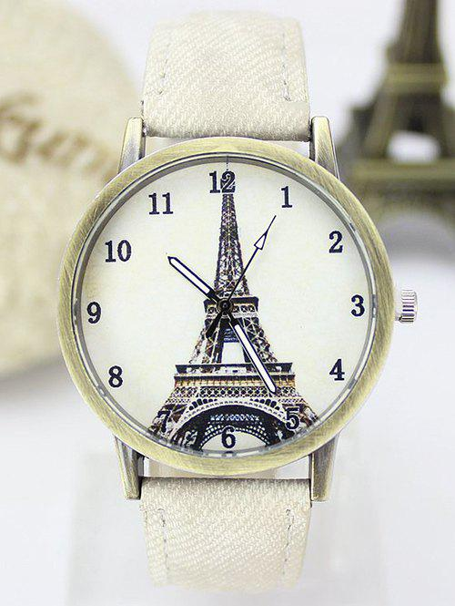 Fancy Eiffel Tower Artificial Leather Watch