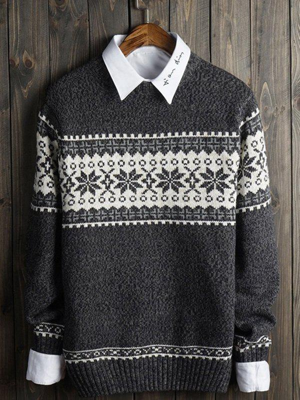 Outfits Crew Neck Snowflake Graphic Christmas Sweater