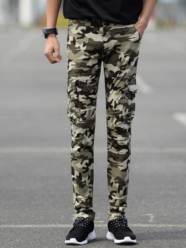 Outfit Slim Fit Camo Cargo Pants with Pockets
