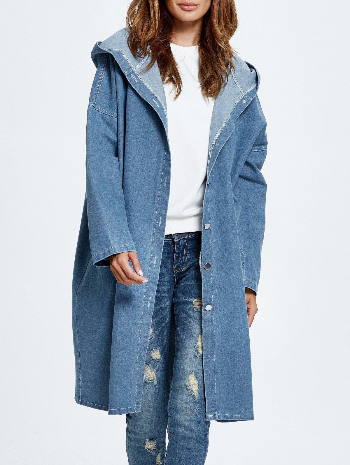 Store Hooded Jean Coat