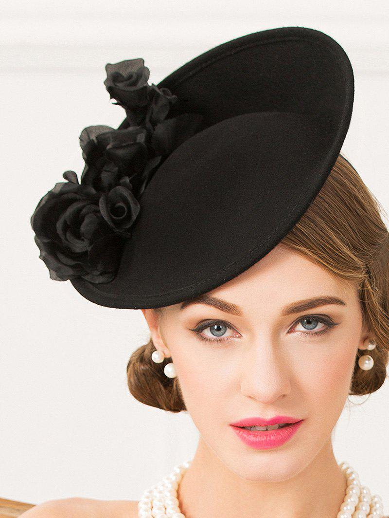 Discount Formal Party Rose Yarn Felt Cocktail Hat