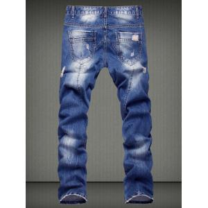 Casual Ripped Straight Legs Denim Pants For Men -
