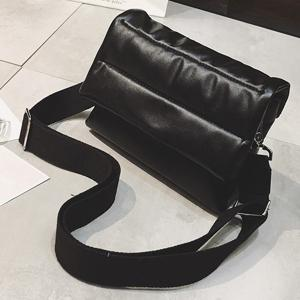 Stitching Magnetic Closure PU Leather Crossbody Bag -