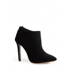 Zip Stiletto Heel Pointed Toe Ankle Boots