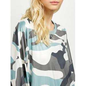 Camo Long Sleeve Mini Dress -