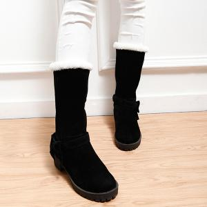 Bowknot Suede Mid Calf Boots -