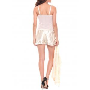 Embroidered Sheer Cami Top and Shorts and Robe -