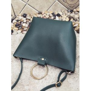 Metallic Ring Shoulder Bag -