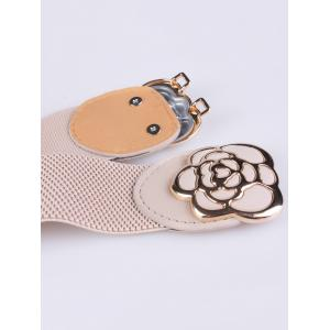 Rose Carve Insert Clasp Buckle Cinch Waist Belt -