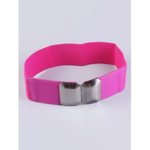 Elastic Waist Belt with Smooth Alloy Buckle