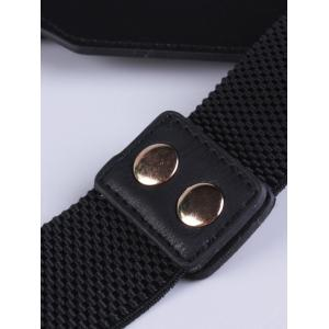 Elastic Waist Belt with Double Buckle -