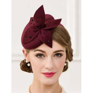 Rhinestone Flower Pillbox Hairband Hat