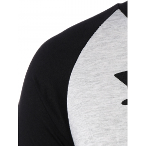 Plus Size Raglan Sleeve Christmas T-Shirt - BLACK 3XL