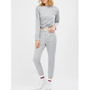 Sports Tee With Drawstring Sports Pants