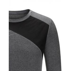 Crew Neck Color Block Zip Embellished Sweatshirt -