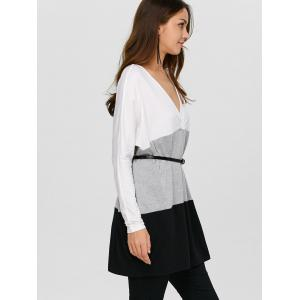 Batwing Sleeve Longline Baggy T-Shirt -
