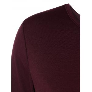 Self-Tie Open Back T-Shirt - WINE RED 2XL