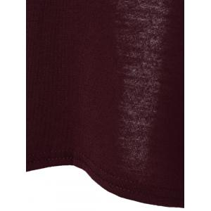 Backless Self-Tie T-Shirt - WINE RED 2XL