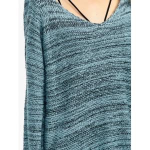 Heathered Asymmetrical Side Slit Sweater -
