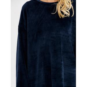 Long Sleeve Velvet Loose Tee -