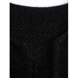 Short Fuzzy Knitted Cardigan -