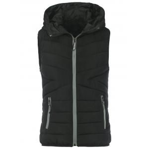 Zip Up Puffer Hooded Vest