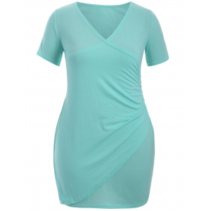 Plus Size Ruched Surplice Dress