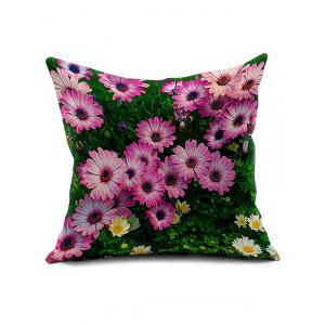 3D Flower Linen Cushion Cover Throw Pillowcase - Colormix - 45*45cm