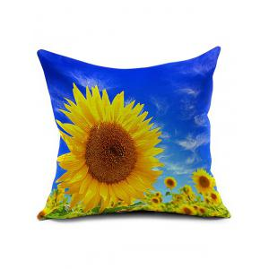 Sunflower Chair Sofa Backrest Cushion Throw Pillow Cover