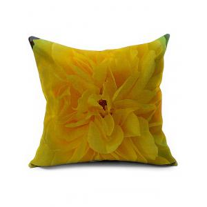 Floral Printed Linen Office Backrest Pillow Cover