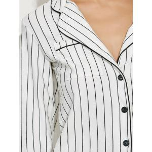 Striped Button Up Loungewear Twinset -