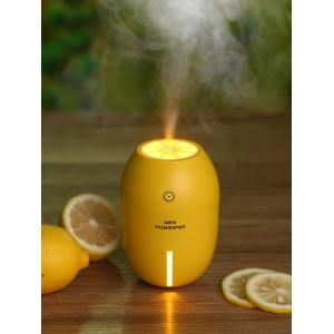 Lemon Shape Mist Maker Diffuser Air Humidifier LED Light - YELLOW