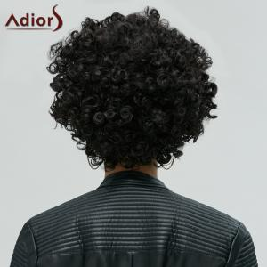 Short Shaggy Full Bang Afro Curly Synthetic Hair Wig -