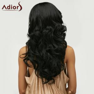 Fluffy Long Wavy Side Parting Synthetic Wig -
