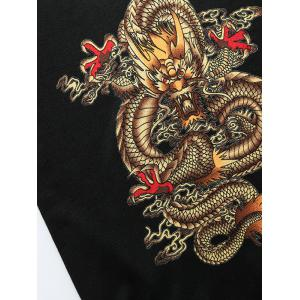 Dragon Pattern Crew Neck Thicken Sweater -