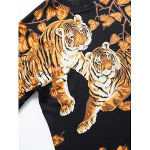 Tiger Pattern Crew Neck Thicken Sweater -