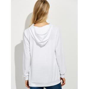 Casual String Hoodie With Letter Print -