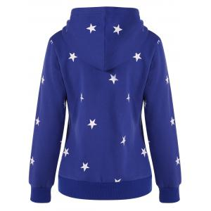 Graphic Star Pullover Hoodie - BLUE 2XL