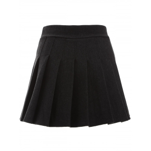 Pleated Mini Winter Skirt -