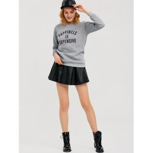 Graphic Jumper Sweatshirt - GRAY XL