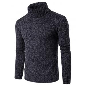 Roll Neck Knit Blends Long Sleeve Sweater
