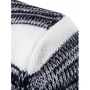 Roll Neck Knit Blends Ombre Stripe Sweater - WHITE 2XL