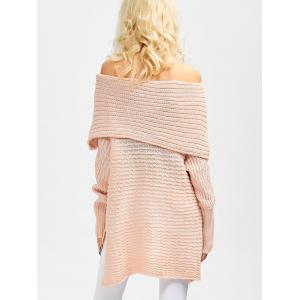 Off The Shoulder Asymmetrical Sweater -
