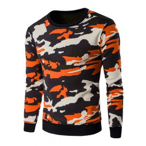 Long Sleeve Flocking Camo Sweatshirt