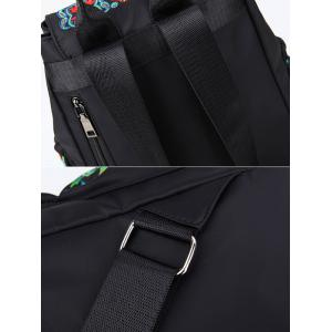 Drawstring Nylon Embroidery Backpack -