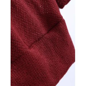 Deep V Neck Sweater - BURGUNDY L