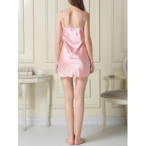 Satin Slip Dress and Robe -