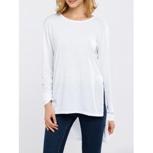Side Slit High Low Long Sleeve T-Shirt